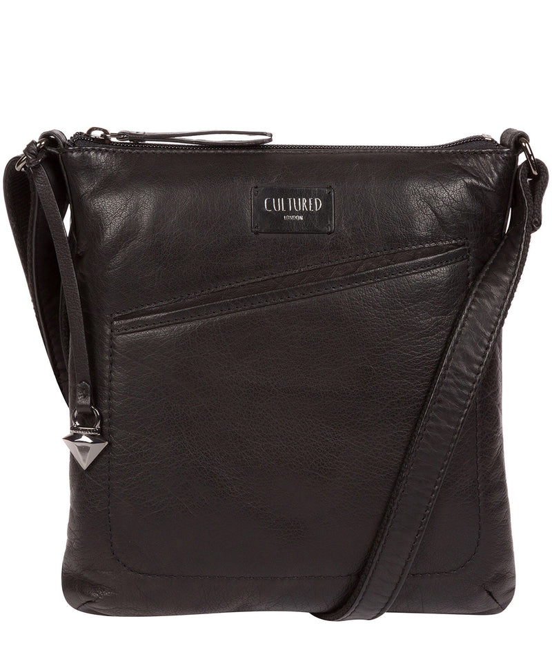 'Gainford' Black Leather Cross Body Bag image 1