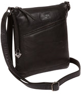 'Gainford' Black Leather Cross Body Bag image 3