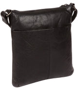 'Gainford' Black Leather Cross Body Bag image 4