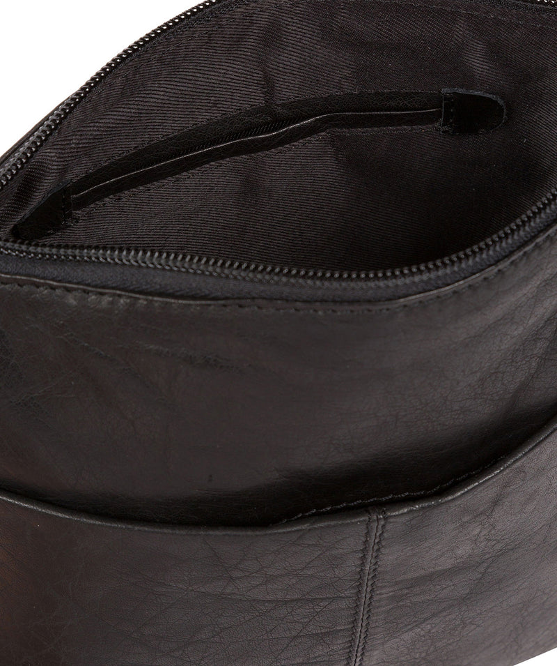 'Gainford' Black Leather Cross Body Bag image 6