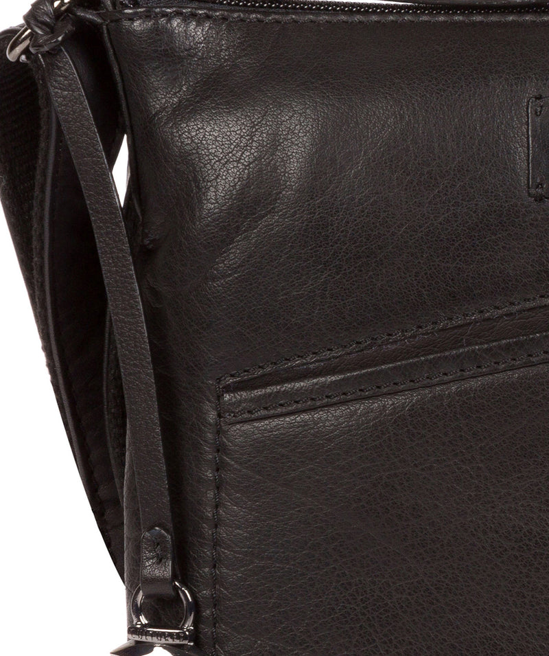 'Gainford' Black Leather Cross Body Bag image 8