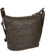 'Elizabeth' Olive Leather Shoulder Bag