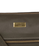 'Elizabeth' Olive Leather Shoulder Bag image 5