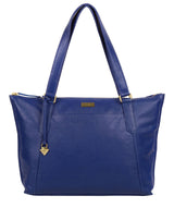 'Isabella' Mazarine Blue Leather Tote Bag image 1
