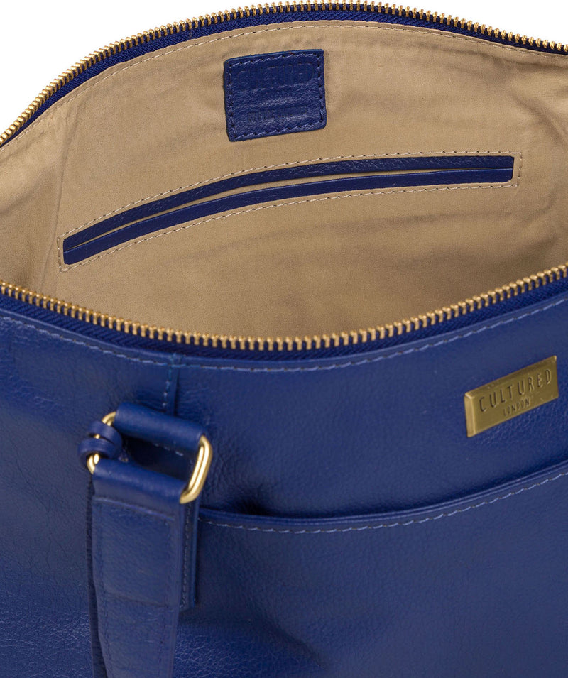 'Isabella' Mazarine Blue Leather Tote Bag image 4