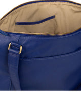 'Isabella' Mazarine Blue Leather Tote Bag image 5