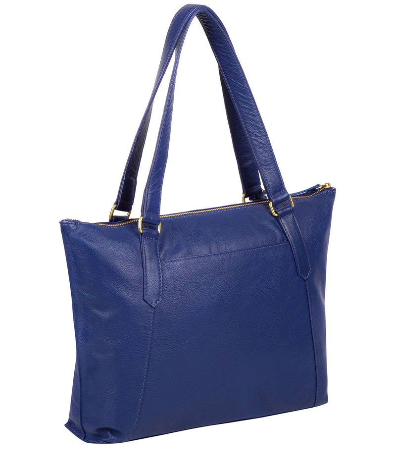 'Isabella' Mazarine Blue Leather Tote Bag image 7
