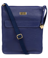 'Sarah' Mazarine Blue Leather Cross Body Bag image 1