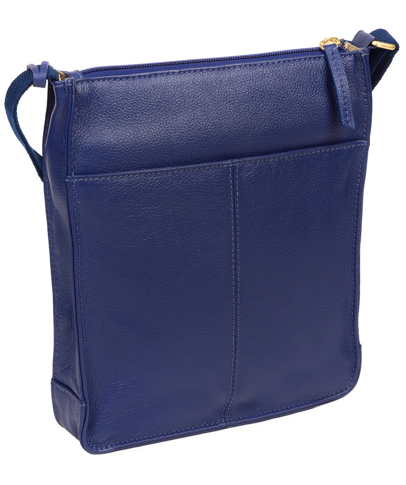 'Sarah' Mazarine Blue Leather Cross Body Bag image 3