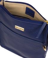 'Sarah' Mazarine Blue Leather Cross Body Bag image 4