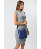 'Sarah' Mazarine Blue Leather Cross Body Bag image 2