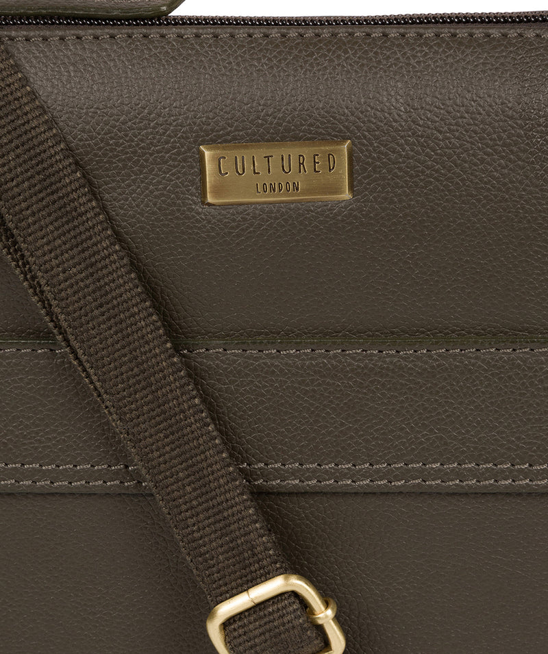 'Sarah' Olive Leather Cross Body Bag  image 5