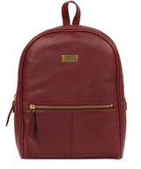 'Alyssa' Ruby Red Leather Backpack  image 1
