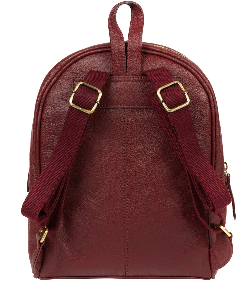 'Alyssa' Ruby Red Leather Backpack  image 3
