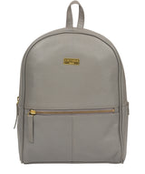 'Alyssa' Silver Grey Leather Backpack  image 1
