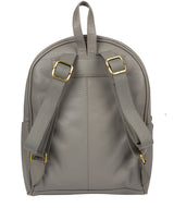 'Alyssa' Silver Grey Leather Backpack  image 3