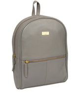 'Alyssa' Silver Grey Leather Backpack  image 6