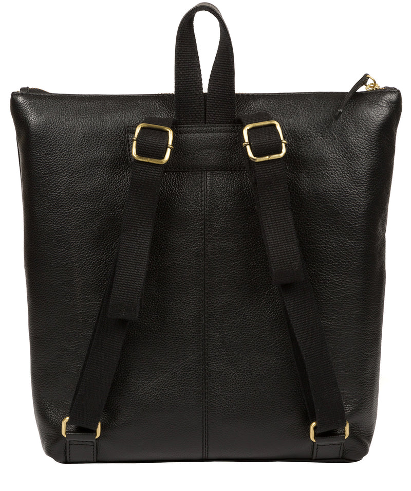 'Jada' Black Leather Backpack image 3