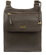 'Morgan' Olive Leather Cross Body Bag image 1