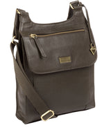 'Morgan' Olive Leather Cross Body Bag image 3