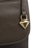 'Morgan' Olive Leather Cross Body Bag image 6