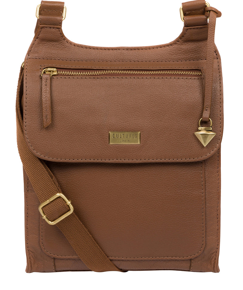 'Morgan' Tan Leather Cross Body Bag image 1