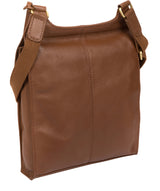 'Morgan' Tan Leather Cross Body Bag image 3