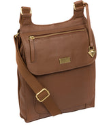 'Morgan' Tan Leather Cross Body Bag image 5
