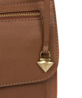 'Morgan' Tan Leather Cross Body Bag image 6