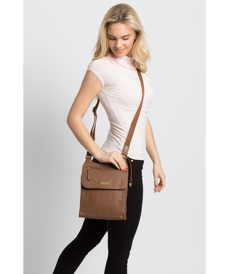 'Morgan' Tan Leather Cross Body Bag image 2