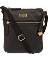 'Brooke' Black Leather Cross Body Bag image 1
