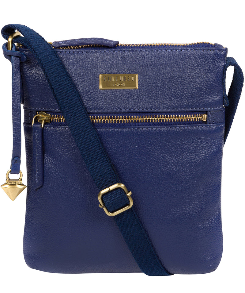 'Brooke' Mazarine Blue Leather Cross Body Bag image 1