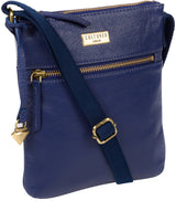 'Brooke' Mazarine Blue Leather Cross Body Bag image 5