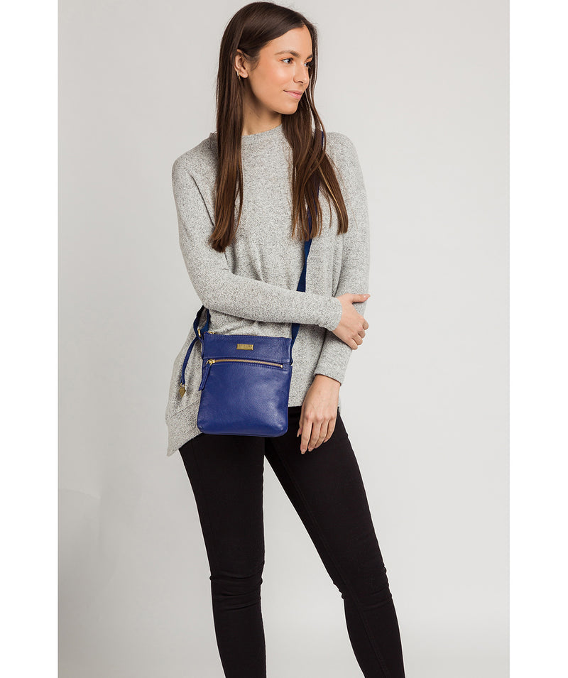 'Brooke' Mazarine Blue Leather Cross Body Bag image 2