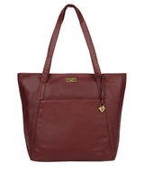 'Makayla' Ruby Red Leather Tote Bag image 1