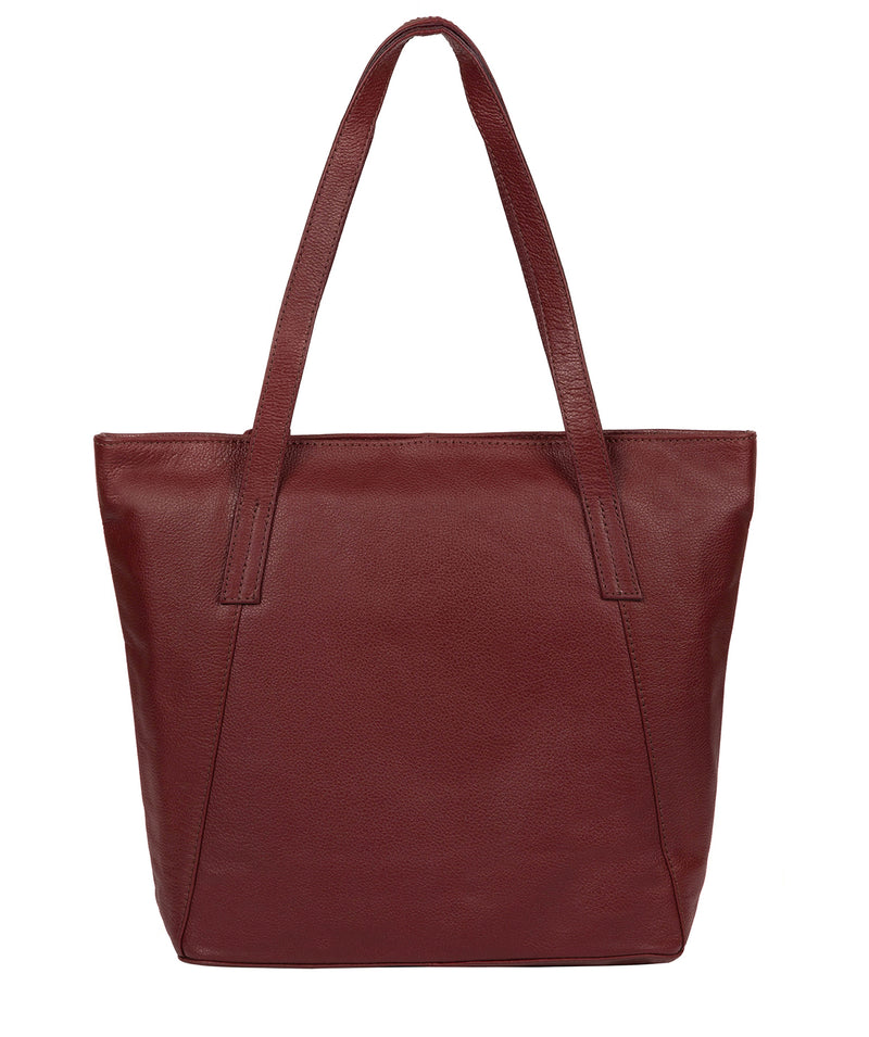 'Makayla' Ruby Red Leather Tote Bag image 3