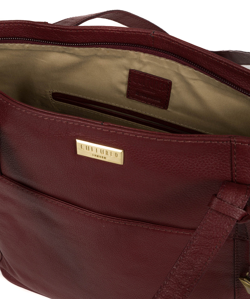 'Makayla' Ruby Red Leather Tote Bag image 4