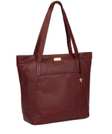'Makayla' Ruby Red Leather Tote Bag image 5