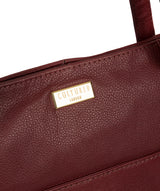 'Makayla' Ruby Red Leather Tote Bag image 6