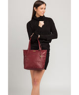 'Makayla' Ruby Red Leather Tote Bag image 2