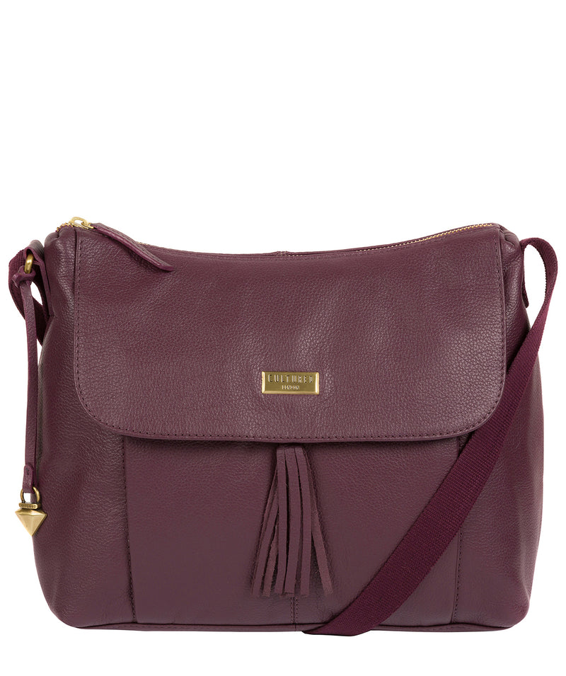 'Lily' Fig Leather Cross Body Bag image 1