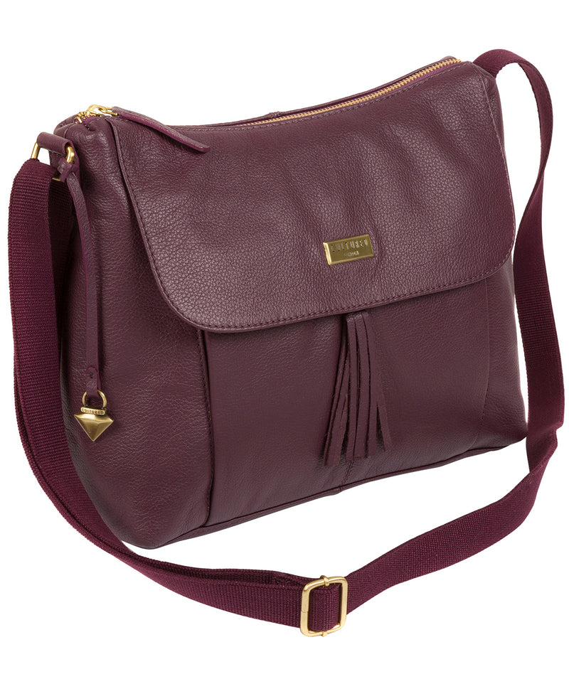 'Lily' Fig Leather Cross Body Bag image 3
