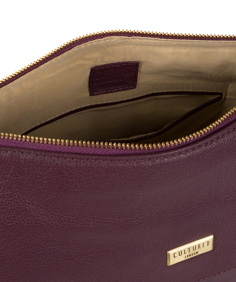 'Lily' Fig Leather Cross Body Bag image 4