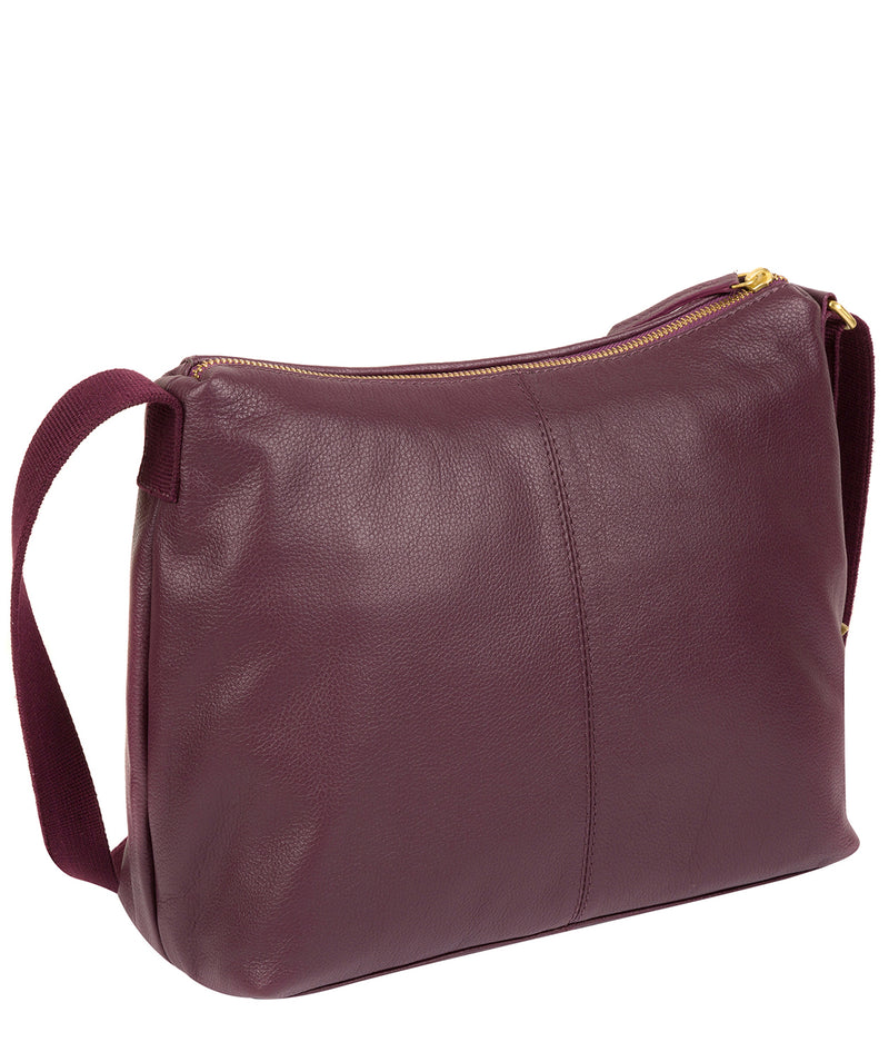 'Lily' Fig Leather Cross Body Bag image 5