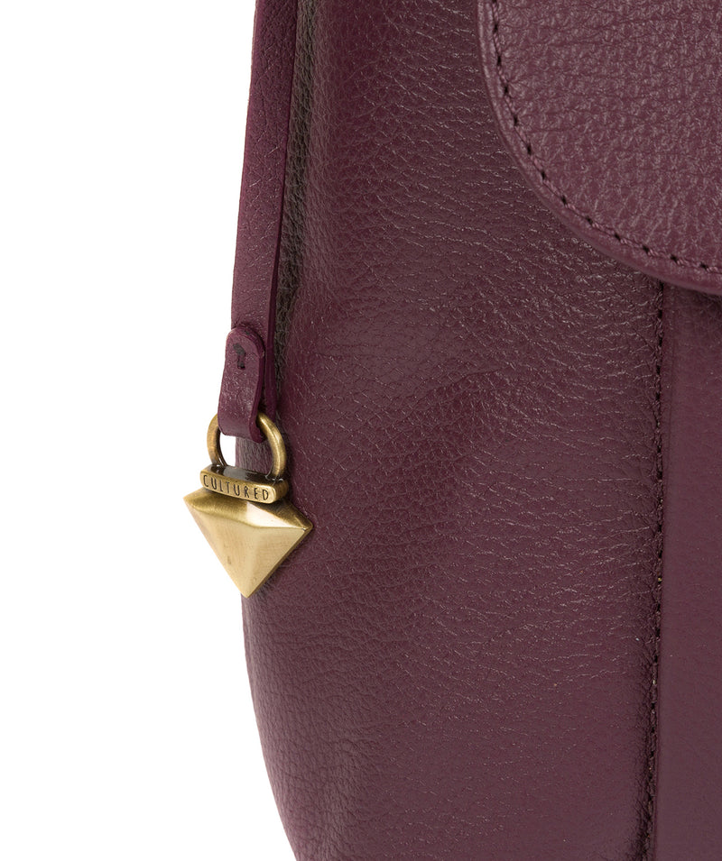 'Lily' Fig Leather Cross Body Bag image 6