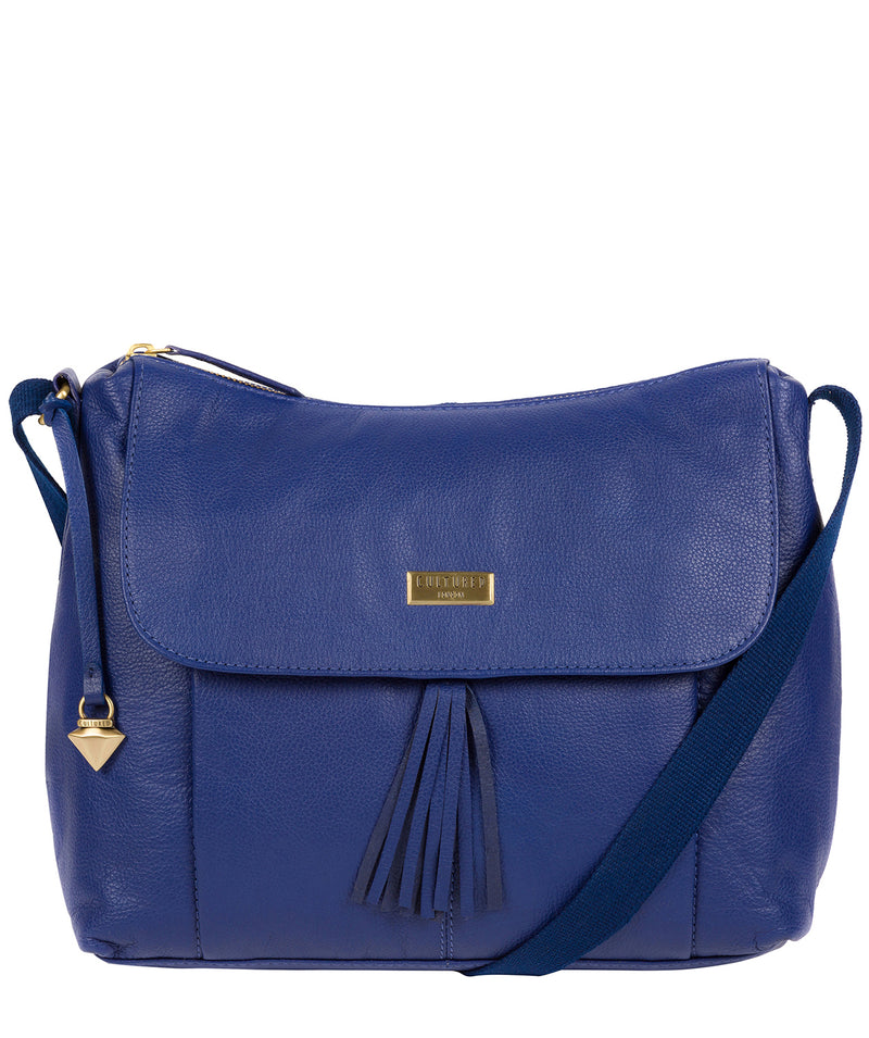 'Lily' Mazarine Blue Leather Cross Body Bag image 1
