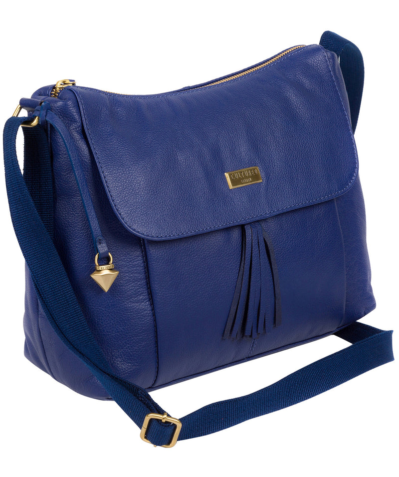 'Lily' Mazarine Blue Leather Cross Body Bag image 3