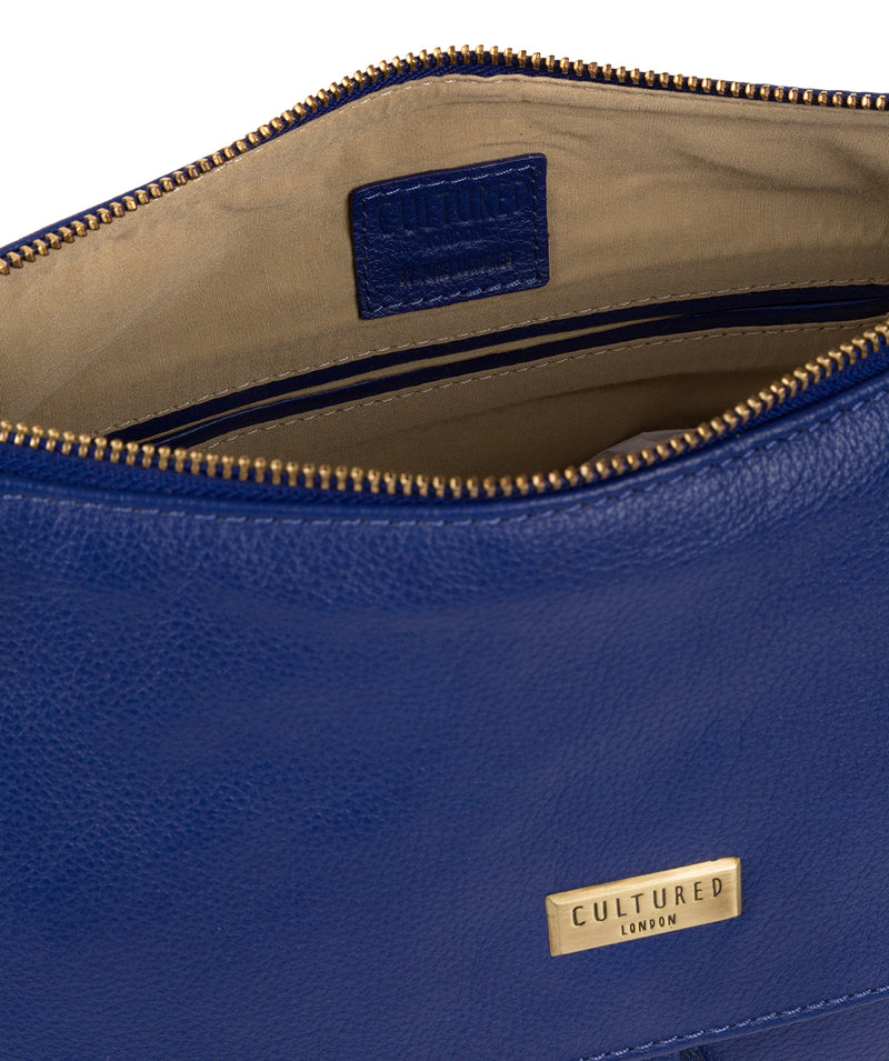 'Lily' Mazarine Blue Leather Cross Body Bag image 4