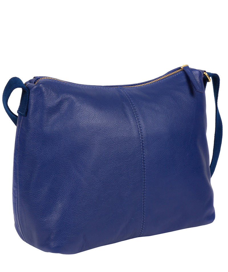 'Lily' Mazarine Blue Leather Cross Body Bag image 5