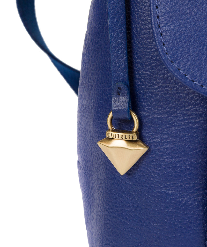 'Lily' Mazarine Blue Leather Cross Body Bag image 6